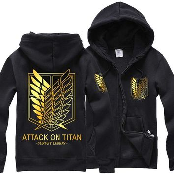Cool Attack on Titan   jacket costumes no  hoodies gloden Wings of Liberty women man coat sweater AT_90_11