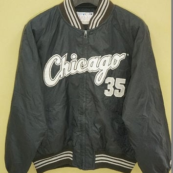Black and white starter jacket
