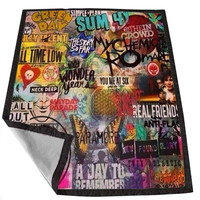 BMTH Collage B W 12e42bc3-607f-4e05-972f-1b0d80b2fd5a for Kids Blanket, Fleece Blanket Cute and Awesome Blanket for your bedding, Blanket fleece *02*