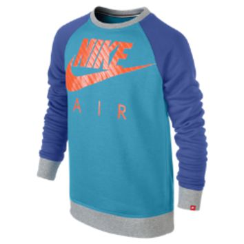 Nike YA76 HBR Brushed Fleece Crew Boys' Sweatshirt