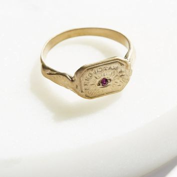 Free People Engraved Wax Seal Stone Ring