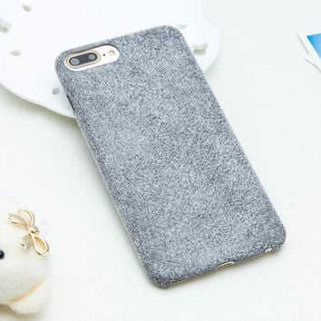 Fashion Retro Candy Color Fuzzy Phone Cases For iphone 7 Case Luxury Ultra thin Soft TPU Back Cover For iphone 7 Plus Shell Capa