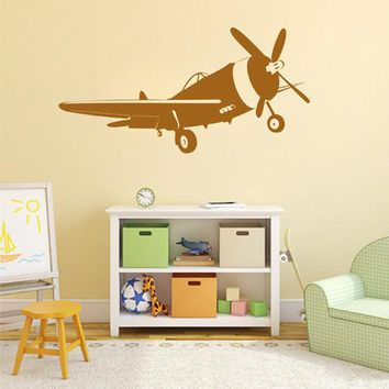 ik2322 Wall Decal Sticker plane air transport living room children's room