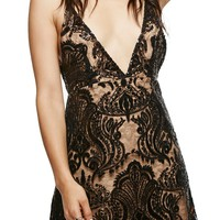 Free People Night Shimmer Minidress | Nordstrom