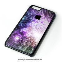 Galaxy Nebula Cracked Out Broken Glass Design for iPhone and iPod Touch Case