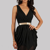 Short Sleeveless V-Neck Party Dress