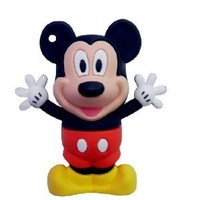 Micky Mouse Cartoon USB Flash Drive - Data Storage Device - 8GB - Key Ring Included