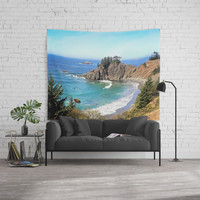 coastal overlook Wall Tapestry by sylviacookphotography