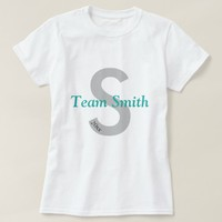 Family Games Team Jersey Grey & Teal T-Shirt