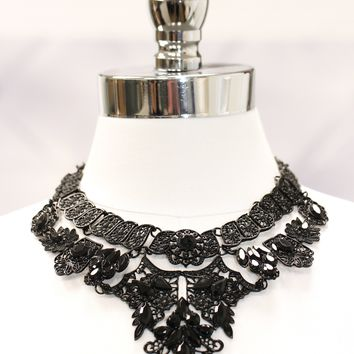 Large Vintage Style Statement Necklace