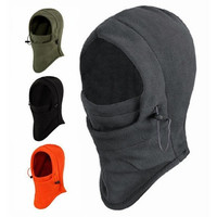 6 in 1 Thermal Fleece Balaclava Hood Swat Ski Mask Bike Skullies & Beanies Winter Wind Stopper Face Hats [8833470028]