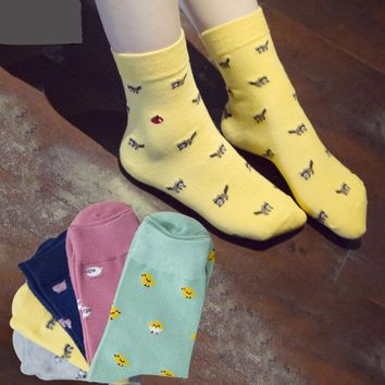Cartoon Sheep Pig Puppy Dog Chicken Tube Socks Funny Crazy Cool Novelty Cute Fun Funky Colorful