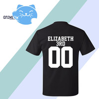 Elizabeth 3rd Mystic Messenger Inspired Game Jersey Style T-Shirt