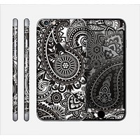 The Black & White Paisley Pattern V1 Skin for the Apple iPhone 6