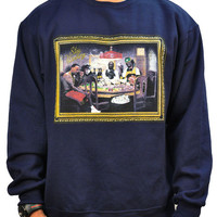 STAY WINNING RAP GODS NAVY CREW NECK
