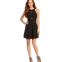 Honey and Rosie Illusion Cut Outs Skater Dress | Dillards