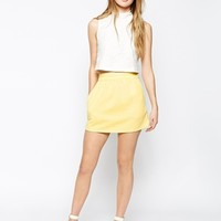 Motel Devon Skirt in Quilted Jersey at asos.com