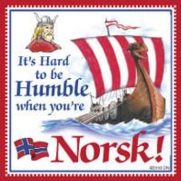 Collectible Norwegian Gift Magnet Tile (Humble Norsk)
