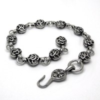 Hot Sale New Arrival Great Deal Gift Shiny Awesome Stylish Accessory Titanium Vintage Strong Character Jewelry Bracelet [6542613315]