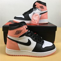 "Air Jordan 1 Retro ""Rust Pink"" 861428-101 Size 36-40"