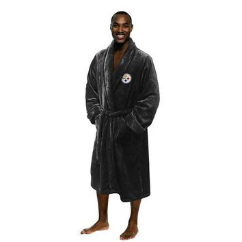 Pittsburgh Steelers NFL Men's Silk Touch Bath Robe (L/XL)