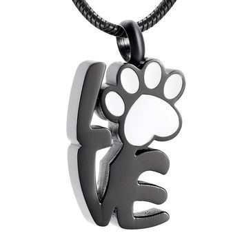 Memorial Jewelry Stainless Steel Live Love Laugh Human Pet Urn Necklaces Cremation Ashes Holder Keepsake Jewelry Pendant