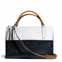 THE BOROUGH BAG IN COLORBLOCK BOARSKIN LEATHER