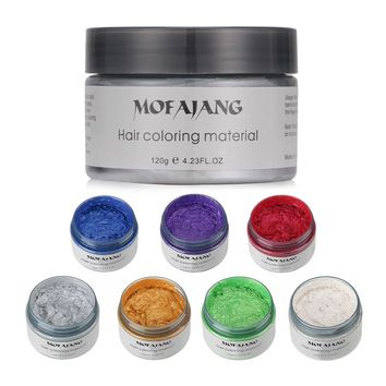 Mofajang Harajuku Style Styling Products Hair Color Wax Dye One-time Molding Paste Seven Colors Maquillaje Make Up Hair Dye Wax