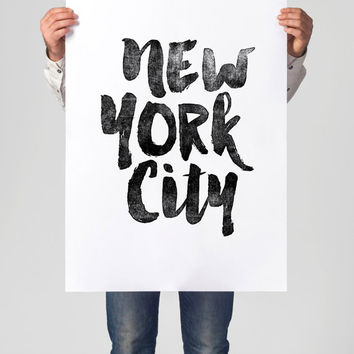 "Printable Art Inspirational Print ""New York City"" Typography Quote Home Decor Motivational Poster Scandinavian Design Wall Art"