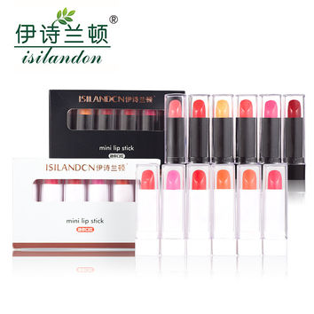 ISILANDON Matte Lipstick Long Lasting Waterproof Lips Gloss Megic Color Lip Stick Women Cute Makeup Beauty Care Cosmetics 6pcs