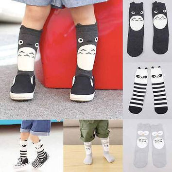 Hot 2016 Baby Boy Girl Kids Toddler Knee High Socks Tights Baby Girl Owl Panda cartoon Leg Warmer Stockings Children gifts
