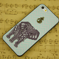 Fashion phone cover iphone 5c case elephant iphone 5c cover, iphone 5s case best kids friend gift iphone 4s case iphone 5 case iphone 4 case