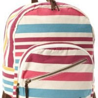 Roxy Juniors Long Time Backpack, Stripe, One Size