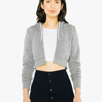 Mock Twist Cropped Hoodie | American Apparel