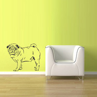 Wall Vinyl Sticker Decals Decor Dog Animal Pug Full (z1772)