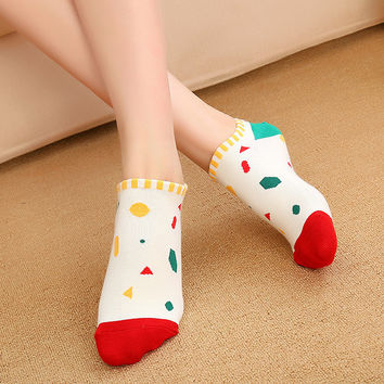 Lovely Summer Fruits Cotton Socks [9259024068]