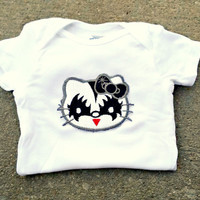 Hello Kitty KISS Onesuit baby layette Metal Band