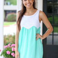 Spearmint Sundress - Mint