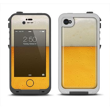The Cold Beer Apple iPhone 4-4s LifeProof Fre Case Skin Set