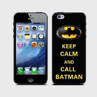 Amazon.com: Apple Iphone 5 Hard Case Keep Calm and Call Batman with Black Case: Everything Else
