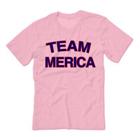 Team Merica Fourth of July Patriotic Tees   4th of July tees July Fourth Tank Tops Tshirts Aprons Gag Gifts Party Drunk Shirts Marijuana