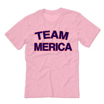 Team Merica Fourth of July Patriotic Tees | 4th of July tees July Fourth Tank Tops Tshirts Aprons Gag Gifts Party Drunk Shirts Marijuana