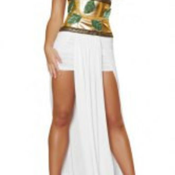 Alluring Plunging Neck Asymmetrical The Greek Goddess Cosplay Costume For Women
