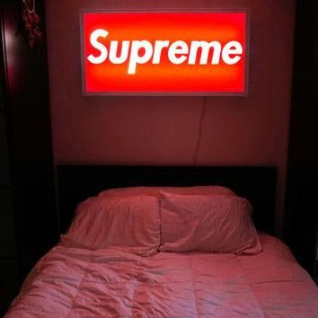 Supreme Inspired LED Lightbox Sign for Home
