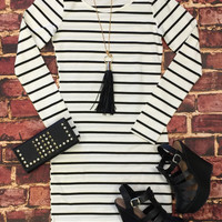 She's Looking at You Tunic Dress: White