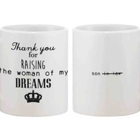 Funny Ceramic Coffee Mug for Dad - Thank You For Raising The Woman of My Dream