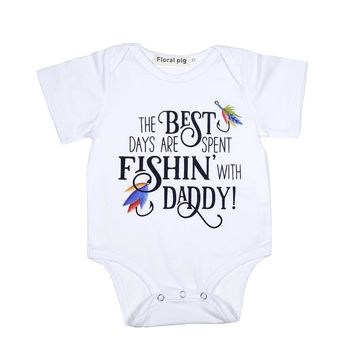 Best Fishing Daddy Baby Onesuit