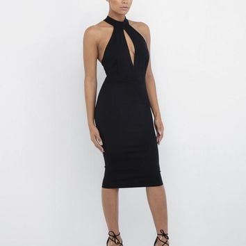 BODY PARTY MIDI DRESS