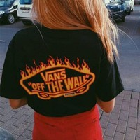 Vans X Thrasher Trending Summer Women Men Casual Round Collar Pocket Short Sleeve T-Shirt I