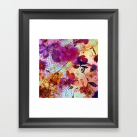 flowers and light Framed Art Print by clemm